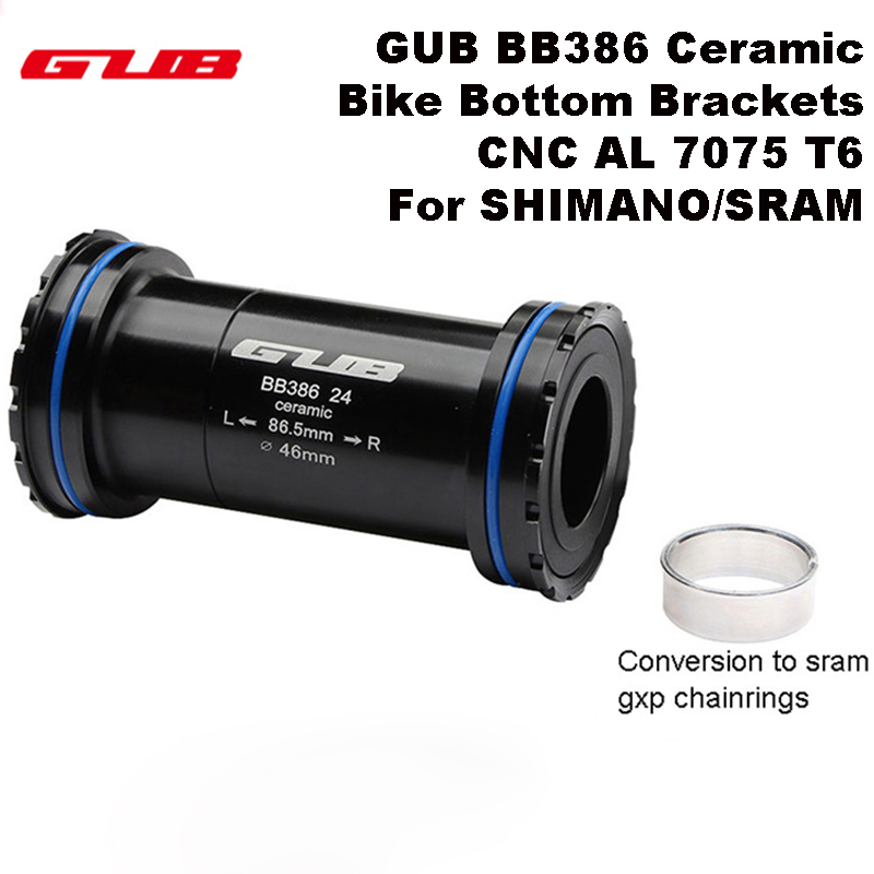 GUB BB 386 Ceramic Bicycle Bottom Brackets Axle for MTB Road Bike Parts CNC AL 7075