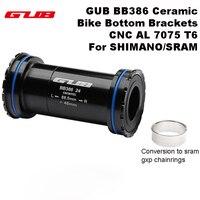 GUB BB 386 Ceramic Bike Bottom Brackets Axle for MTB Road Bike Parts ,for SHIMANO SRAM 24mm Crankset Chainset