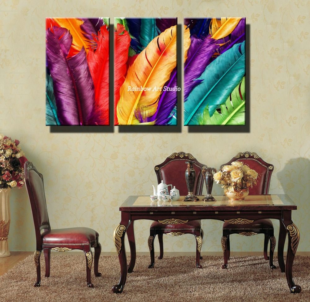 3 piece cheap colorful dinning room pinturas beautiful - Pinturas para comedores ...