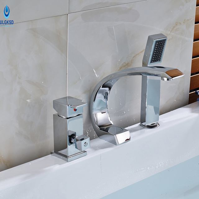 Ulgksd Newly Bathroom Shower Tub Faucet Handheld Sprayer 3pcs ...