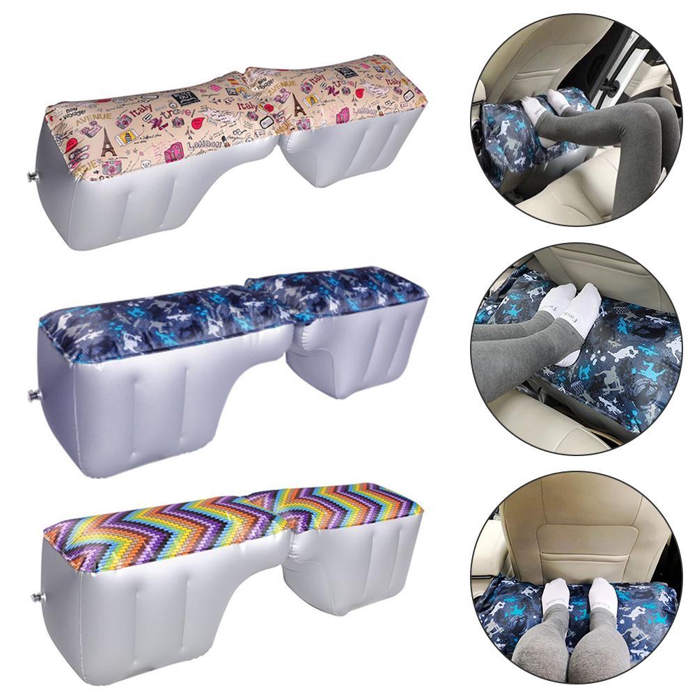 Car Mattress Inflatable Back Seat Gap Pad Printing Travel Air Bed Cushion Outdoor Sofa Camping Auto Seat Accessories Air Pump