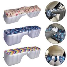 Car Mattress Inflatable Back Seat Gap Pad Printing Travel Air Bed Cushion Outdoor Sofa Camping Auto Seat Accessories Air Pump цена 2017