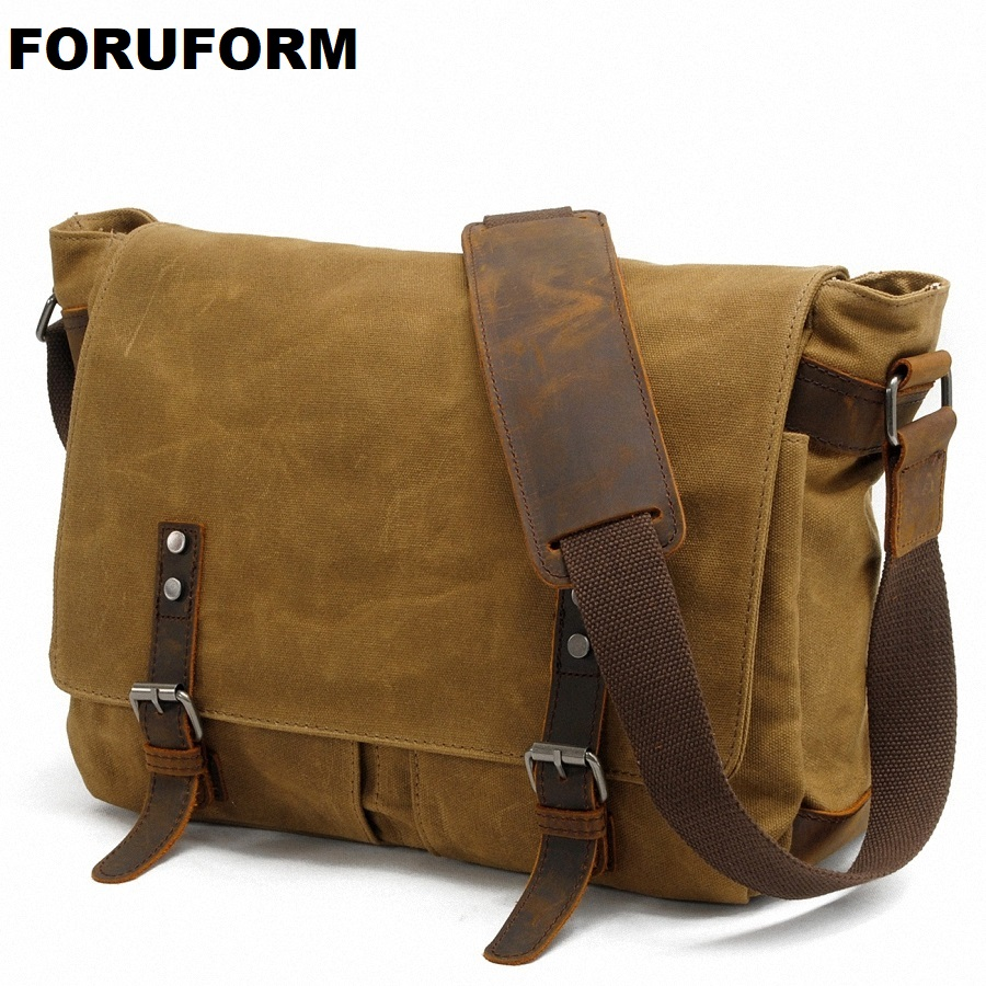 DSLR Waterproof Camera Bag 2018 Men'S Shoulder Bag Canvas Casual Laptop Shoulder Messenger Handbag Leisure Messenger Bag LI-1395