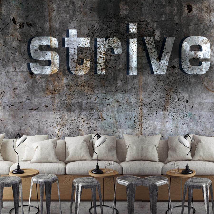 13 72 38 De Réduction Personnalisé 3d Murale Industrielle Vent 3d Style  Européen Ciment Papier Peint Restaurant Café Thé Boutique Salon