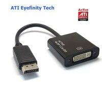 Active ATI Eyefinity 4K DisplayPort DP Male ToDVI Female Video Audio HDTV Adapter Converter Multiple Monitor