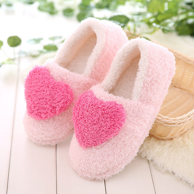 Lovely Ladies Home Floor Soft Women indoor Slippers Outsole Cotton-Padded Shoes Female Winter Warm Casual Shoes 3 Colors