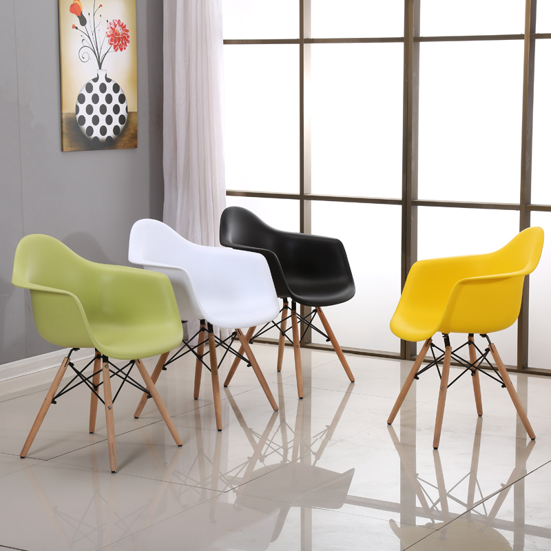 Colorful Design Domestic Dining Chair Company Reception Chair Outdoor Restaurant Bar Computer Chair Wooden Plastic Cadeira