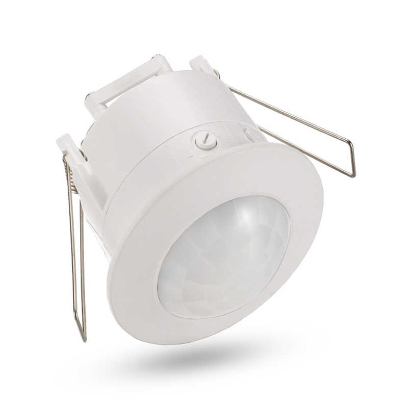 High quality 360 degree ceiling 110V/AC 220V/AC inlay sensor switch PIR infrared motion sensor light lamp switch