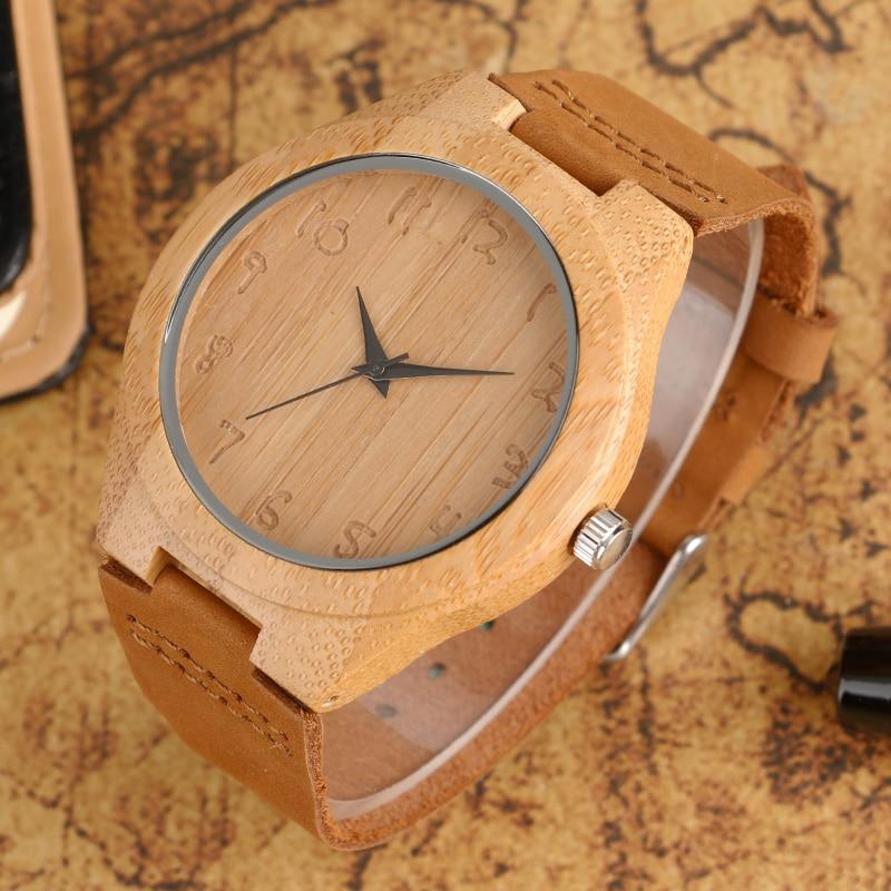 Klassik əl istehsalı yüngül ağac saatları, qadınlar üçün - Kişi saatları - Fotoqrafiya 2