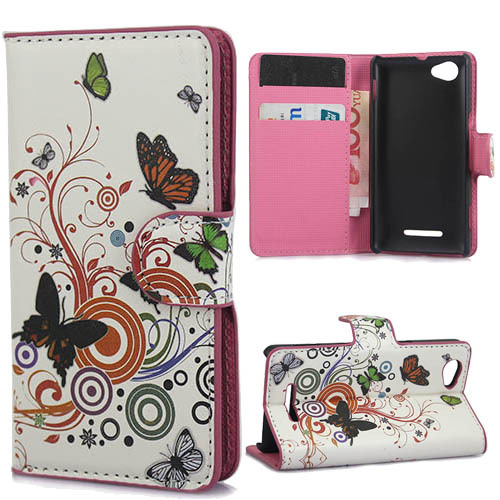 best loved 5f959 715fd US $6.59  mobile phone flip cover case for Sony xperia M C1905 C1904  Experia M Dual C2004 C2005 flip cover case pu leather for Sony C1905 on ...