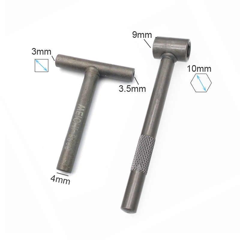 Motorcycle Engine Valve Adjustment Tool Square Hexagon Socket T Spanner  Valve Screw Wrench 8mm 9mm 10mm Feeler Gauge 0 02 to 1mm
