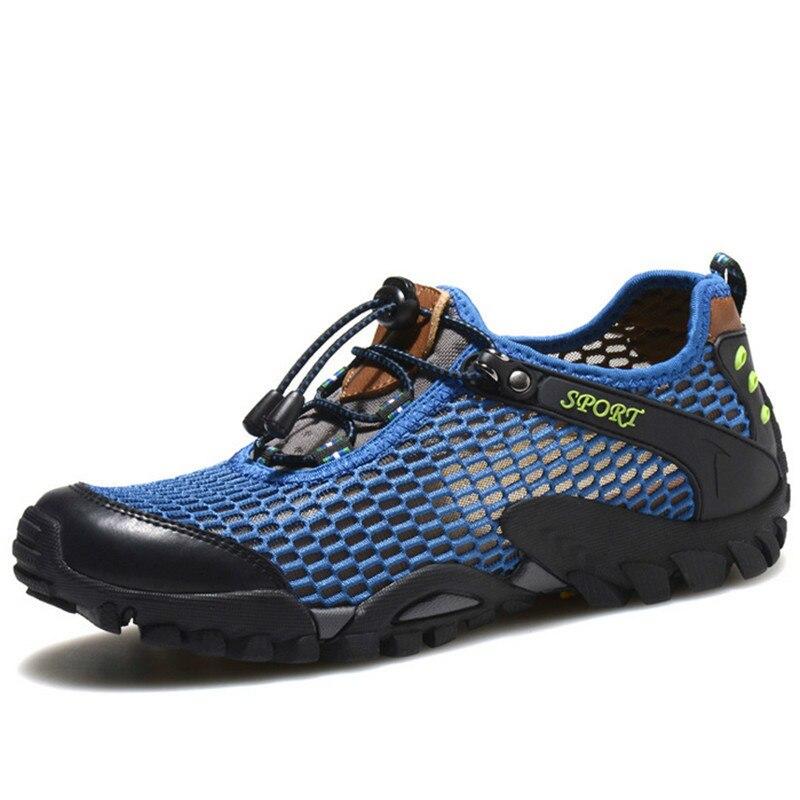 2018 taille 39-46 été Sneakers hommes chaussures chaussures de Sport en plein air hommes chaussures de course pour hommes marque marche anti-dérapant tout-terrain