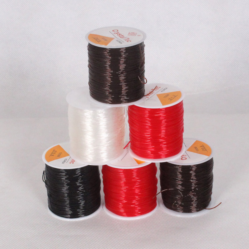 Stretch Cordon Pour Bijoux Jewelry Findings Rubber Elastic Beading Thread String Transparent Crystal Bracelet Wire/Cord