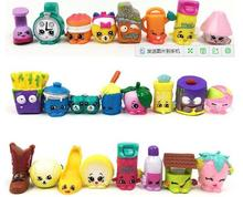 10pcs/lot Shopkins action figure toys kids' DIY model toy for kid's Christmas Birthday Party gift for Girl