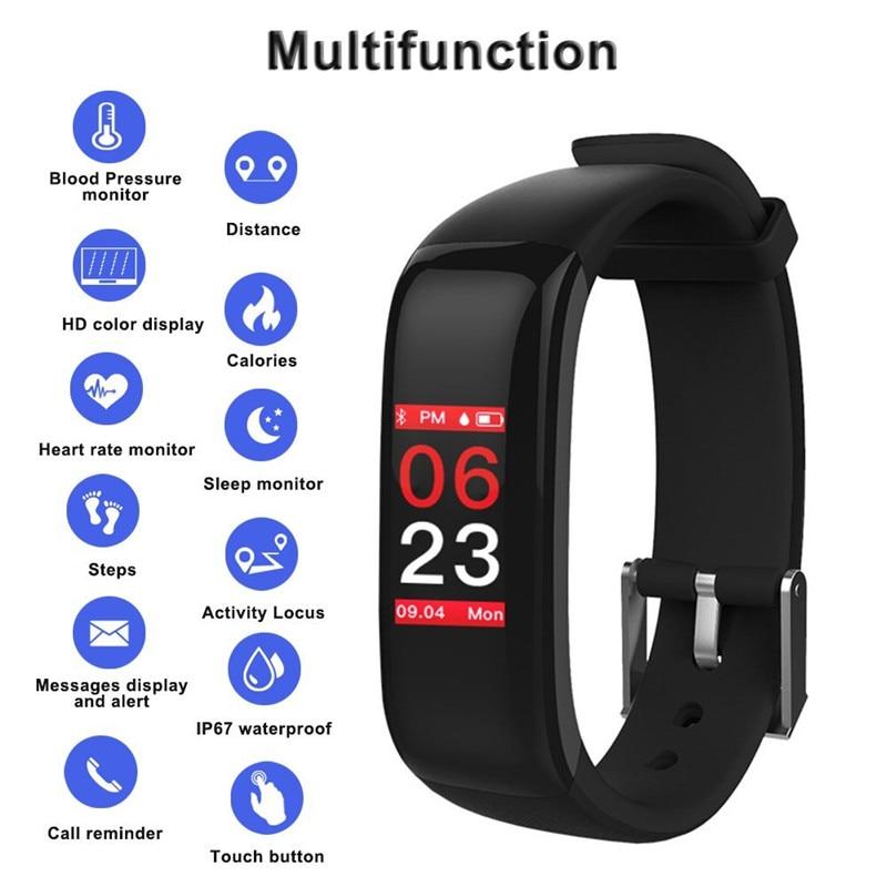 Fitness Watch Bracelet Smart Heart Rate Tensometer Sleep Activity Tracker Bluetooth Sport Smartwatch For Men Women Lover Watch