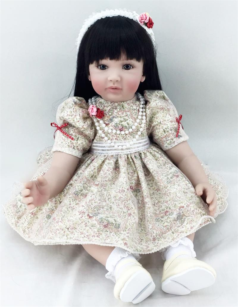 24 ''coth body 3/4 Silicone Reborn bébés Boutique princesse fille poupées réaliste Reborn enfants enfants cadeau de noël bebe reborn