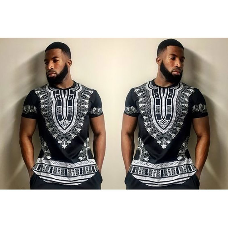 2019 New Arrival African Clothing Time-limited Hot Sale Traditional New Arrival Polyester Printing Men Clothes Dashiki
