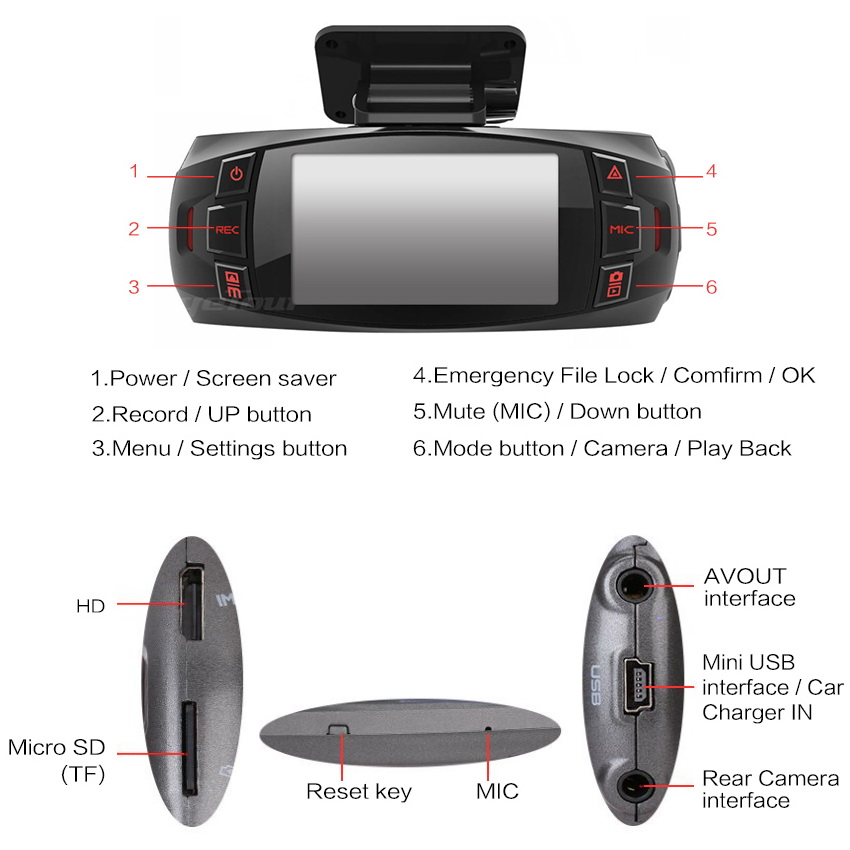 Range Tour Car DVR Dash Camera Z4 Plus 1212