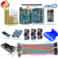Official DOIT WiFi Control 2 Way Tracking 3 Way Ultrasonic Obstacle Avoidance Controller Kit For Cralwer