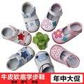 Verão Crianças Sapatos de Couro Genuíno Sapatos de Sola Macia Primeiro Walkers Sapatos de Bebê do Sexo Feminino Masculino Infantil Primavera/Outono Tamanho 3-18 M