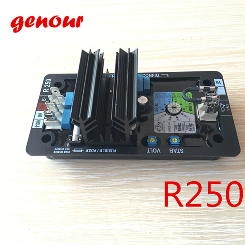 цена на R250 automatic voltage regulator generador Leroy Somer AVR R250 high quality brushless alternator spare part