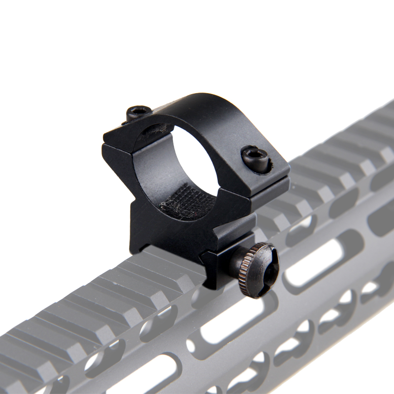 Tactical 25mm Ring Offset 20mm Rail Picatinny Flashlight/sight Mount Gun Rifle