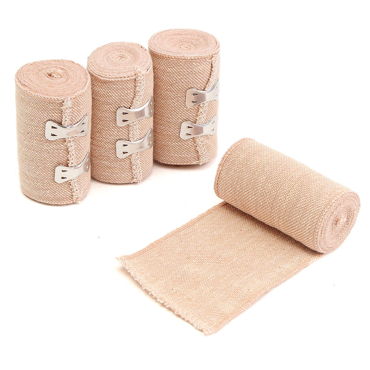 4 Rolls High Stretch Spandex Bandage Sports Training Sprain Ankle Protective Crepe Gauze Medical First Aid Elastic Adhesive Tape