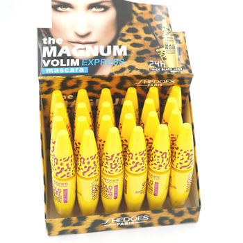 24 unids/lote colosal volumen Express Mascara 3IN1 Extra larga duración negro grueso volumen Mascara 8 ml