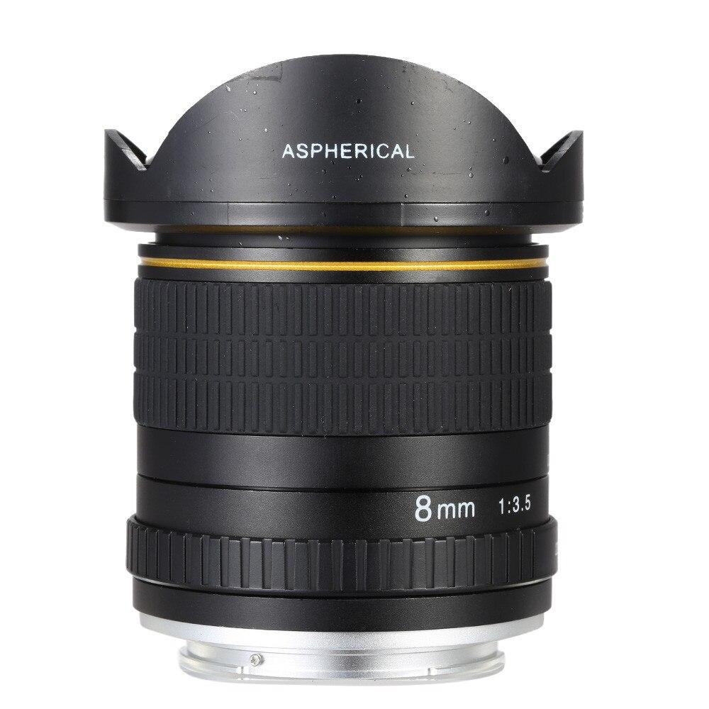 8mm F/3.5 Ultra Grand Angle Objectif Fisheye pour Canon DSLR Caméras 1500D 1200D 800D 760D 750D 700D 750D 600D 80D 70D 60D 77D 7D - 2