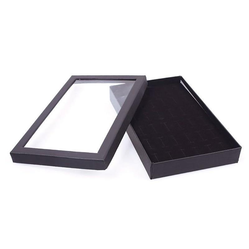 36 Slots Jewellery Box Ring Storage Earrings Display Box Jewelry Organizer Holder Transparent Window Show Case