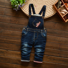 Baby Boys Denim Overalls, Rompers Kids, Childrens Clothing Spring and Autumn Cotton Sanicebeen Straight Geometric Elastic Waist