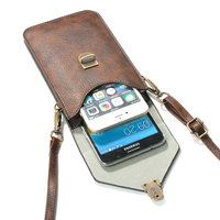 Phone Bag Universal PU Leather Pouch Crossbody Small Bags,Front for iPhone 4 4s 5s 5 SE 6 6s plus,Back for Samsung S7 S6 S5 S4