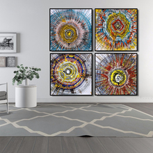 Abstract Oil Painting Posters and Prints Wall Art Canvas Watercolor Annual Ring Pictures For Living Room Decor