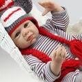 50 CM 20 polegada juguetes silicone renascer baby doll brinquedos bebe renascer lifelike handmade implantado mohair