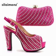 12d500e5494e03 Dernières Mariage Italien Parti Africain Chaussures avec les Sacs Assortis  pour Femmes Nigérianes Dames Chaussures et Sac Ensemb.