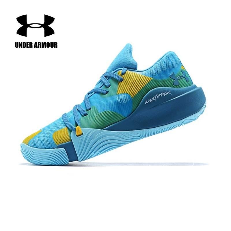 Under Armour homme Curry 5 bas haut basket chaussures jaune sport chaussure bleu été baskets Zapatillas hombre deportiva US 7-12