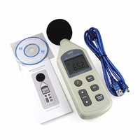New WS1361 USB Digital Sound Pressure Level Meter 30-130dB Decibel Noise Tester + USB Cable with Software CD