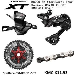Image 2 - シマノ DEORE XT M8000 グループセット MTB マウンテンバイク 1x11 Speed 46T 50T SL + RD + CSMX8 + X11.93 m8000 シフターリアディレイラー