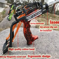 Outdoor Laser New Slingshot G5 Hunting Slingshot Catapult Powerful Laser Slingshot Accessories For Catch Fish Outdoor