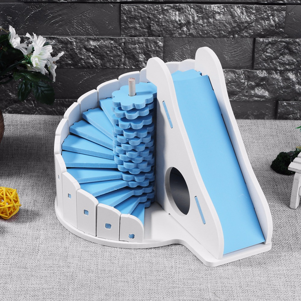 Ecological Cute Hamster House Cages For Rat Mouse  Funny Hamster Nest Net Ecological Double-deck Ladder Villa Colorful Bed House #6