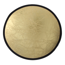 FW1S 60cm 2-in-1 Photography Studio Light Mulit Photo Disc Collapsible Light Reflector Round Disk Silver/Gold