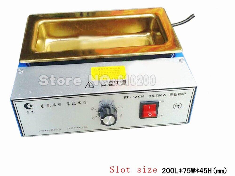 Titanium alloy Lead free Solder Pot solder machine Soldering Desoldering Bath capacity 200X75X45mm 700W5500g