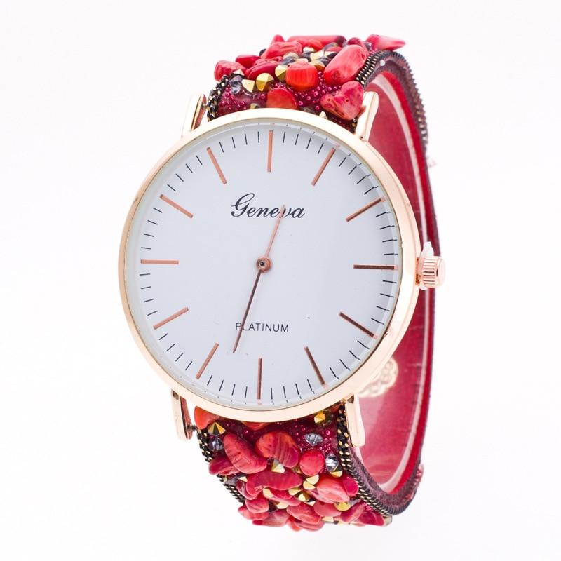 Topkeeping Brand New Women Watches Natursten Armbånd Geneva Watch - Dameure - Foto 2
