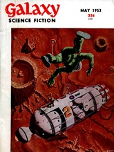 Galaxy Magazine 1953 Science Fiction Cover Retro Art Huge Print Poster TXHOME D5725