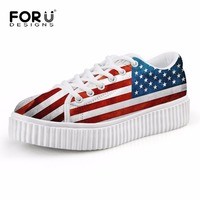 2016 Casual Women Flats Shoes Cute Animal Cat Print Women Creepers Shoes Lace Up Woman Loafer