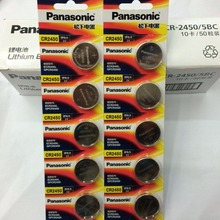 200pcs/lot New Original Battery For Panasonic CR2450 3V Lithium Button Cell Coin Batteries For Watches,clocks,hearing aids 50pcs lot new genuine panasonic cr2450 3v cr 2450 lithium button cell battery coin batteries for watches clocks hearing aids