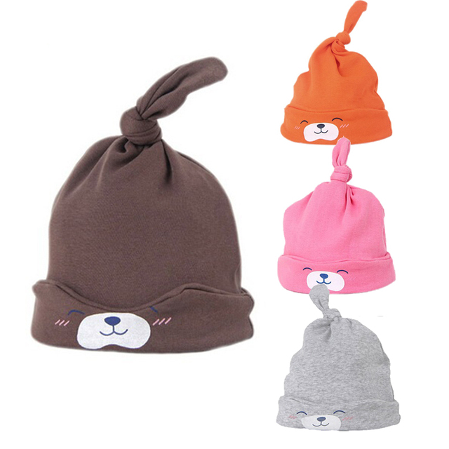 61d7c1113f7 New cartoon baby hats comfort baby toddlers cotton sleep caps for girls boys  hats headwear colorful cute beanies for babies