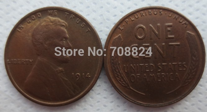 1914  LINCOLN ONE CENTS COPY coins