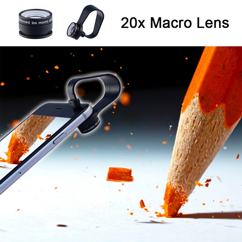 High Quality HD 20X Macro lens For Sony xperia z1 z3 compact m5 xa Microscope Mobile Phone Camera Lenses For ZTE Asus LG g2 g3 g