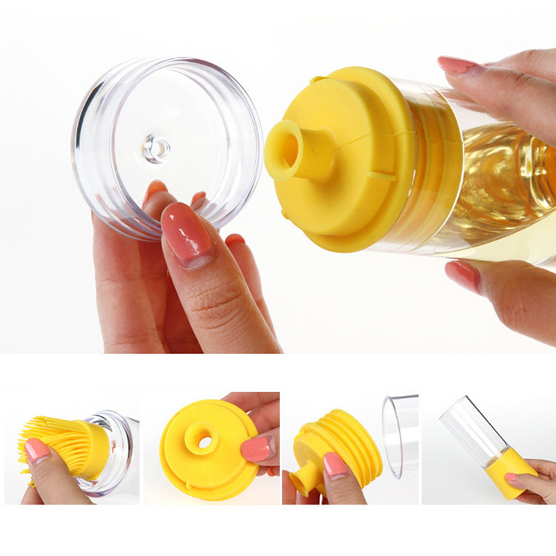 Good Quality 2 Pcs Kitchen Tool Silicone Honey Oil Brush Bottle Cooking Baking Basting BBQ Barbecue Pinceis Hot